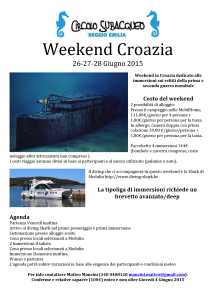 Weekend Croazia 2015